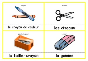 image relating to Printable French Flashcards named French Flash Playing cards